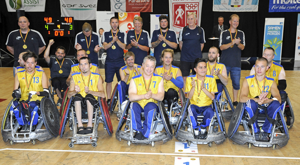 Sweden wheelchair rugby team