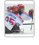 Great Britain ice sledge hockey highlights block