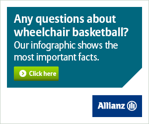 Allianz banner square wheelchair basketball