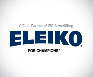 Banner with Eleiko logo: Click here for more informations about Eleiko, official partner of IPC Powerlifting.