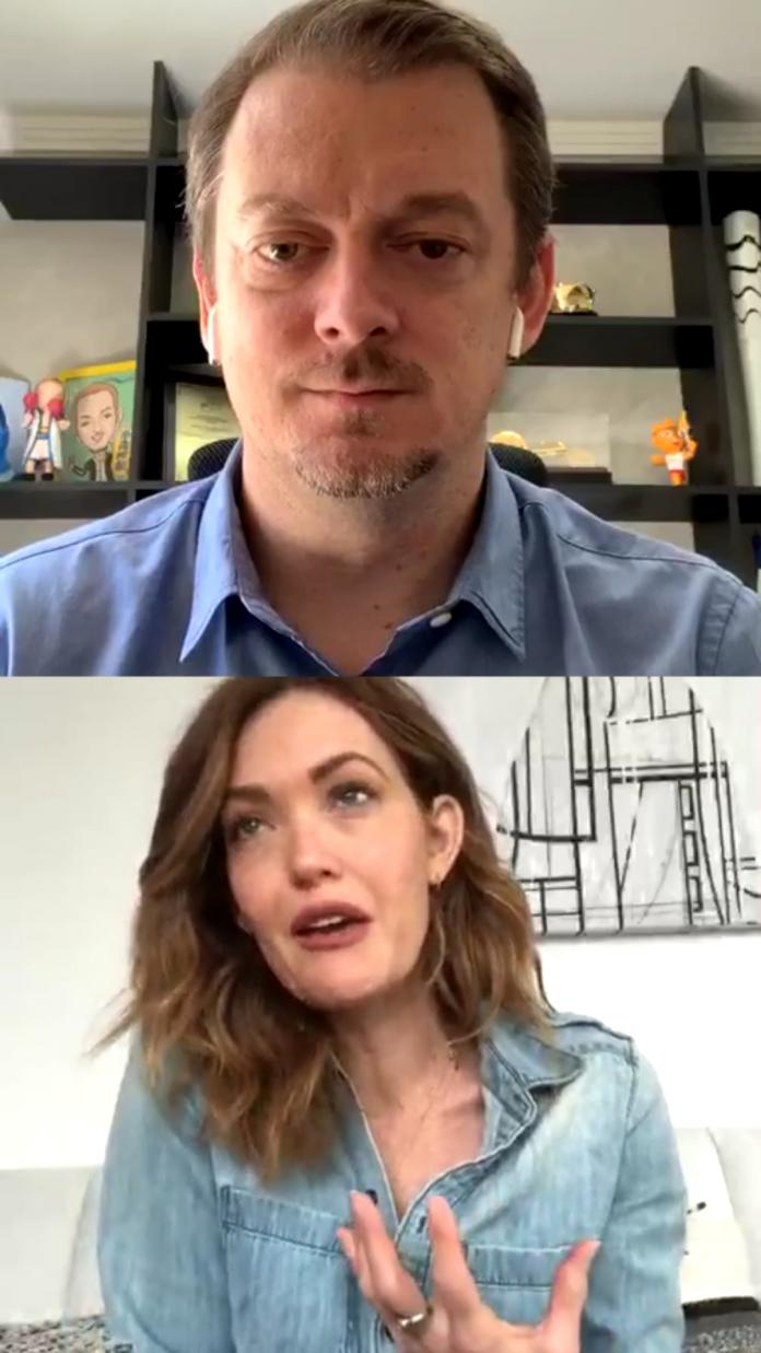 Andrew Parsons and Amy Purdy on instagram live