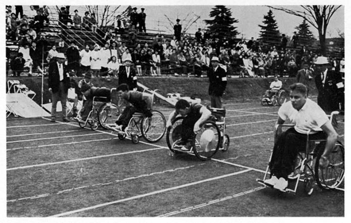 Athlétisme aux Jeux paralympiques de Tokyo en 1964.