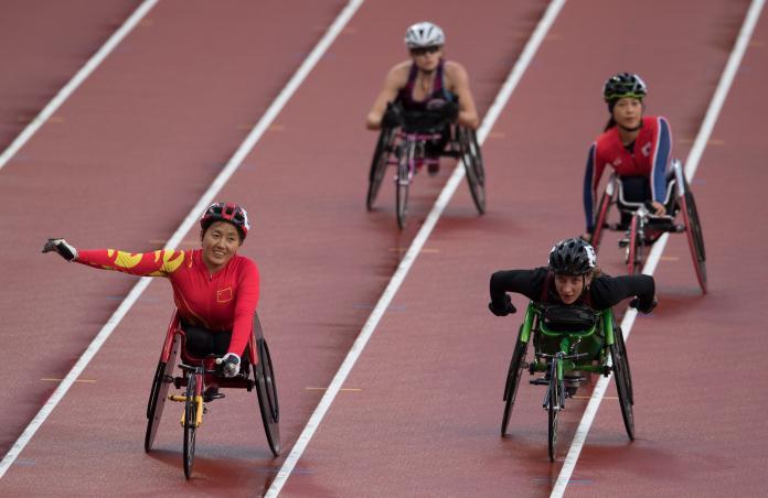 Chinese wheelchair runner Hongzhuan Zhou