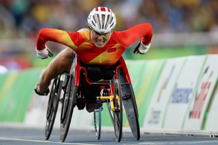 Hongzhuan Zhou, wheelchair runner on the track