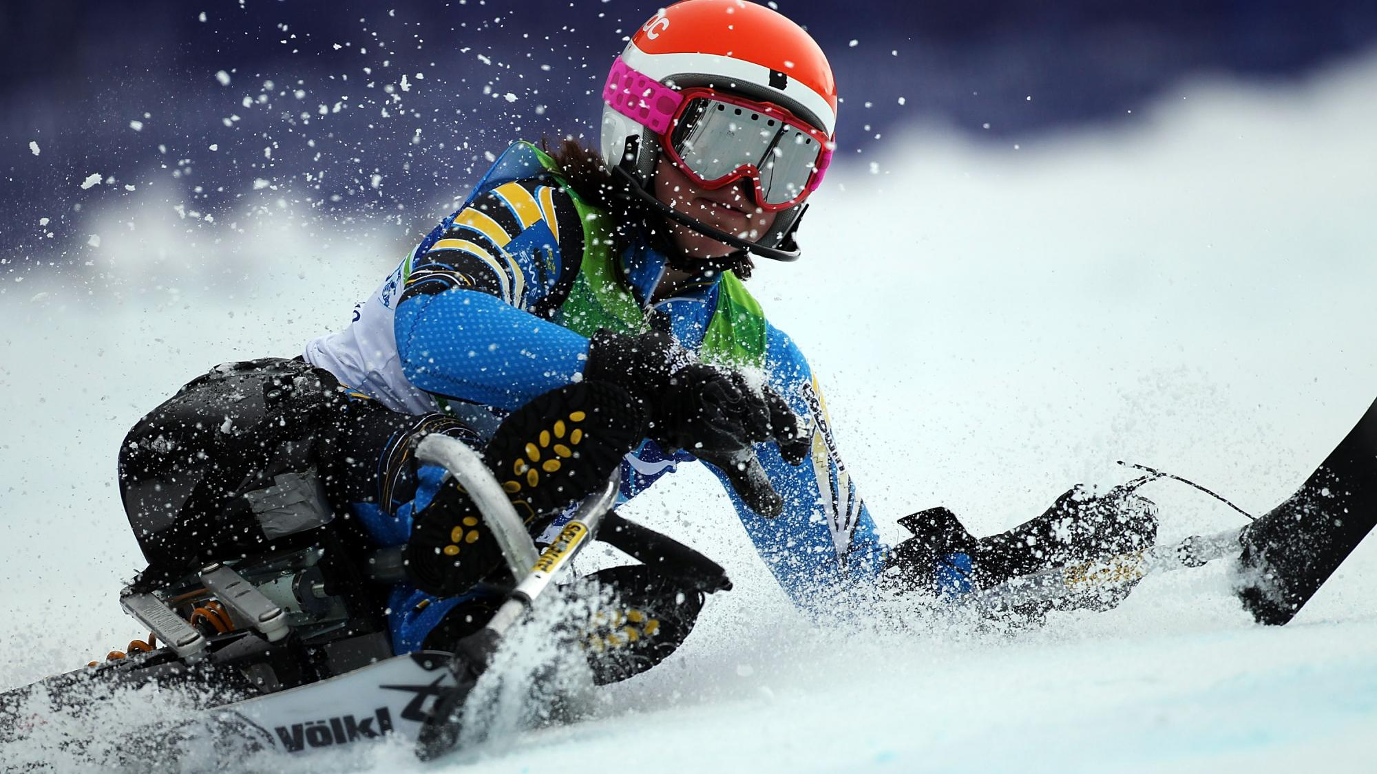 Tested athlete in alpine skiing in Vancouver Paralympics games