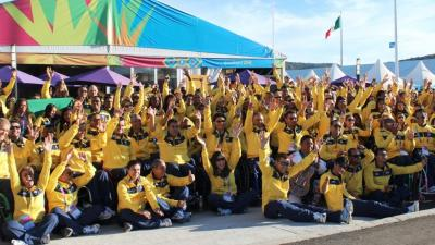Brazilian athletes at the Guadalajara 2011 Parapan American Games.