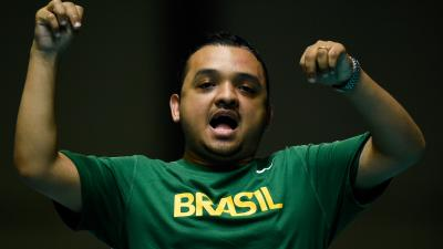 male boccia player Maciel Santos