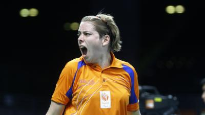 female Para table tennis player Kelly Van Zon
