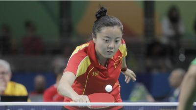 female Para table tennis player Mao Jingdian