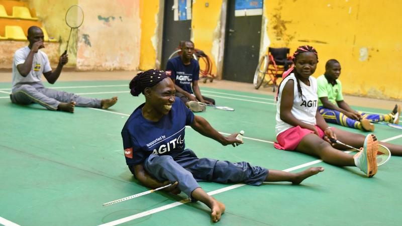 Participants of BWF workshop have fun while trying Para badminton in Uganda