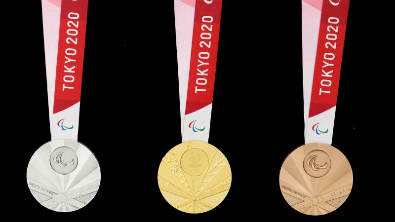 The medals for the Tokyo 2020 Paralympic Games