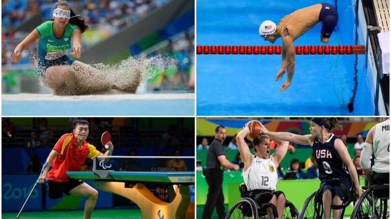 Para athletes competing in athletics, swimming, table tennis and wheelchair basketball