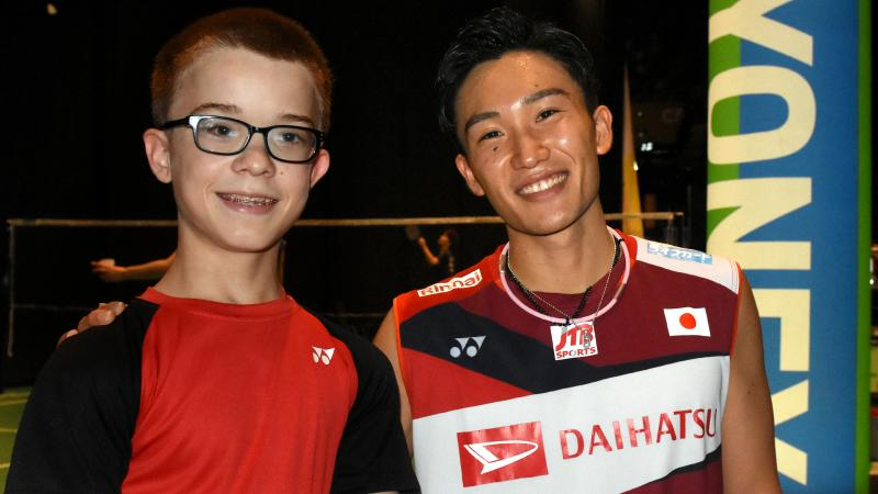 two male badminton players