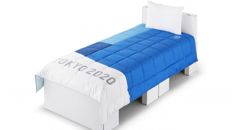 Image of a bed with sheets and pillow