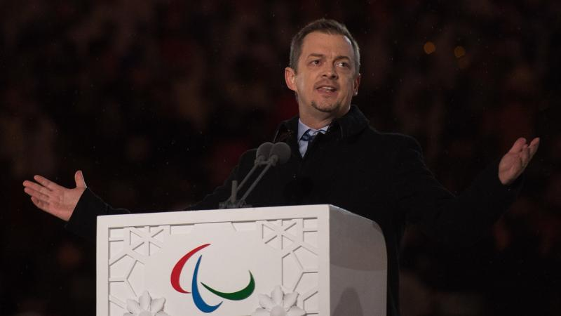 The President of the International Paralympic Committee Andrew Parsons