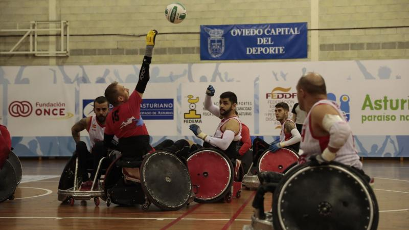 Enroute to title: Action from the IWRF European Division C Championship match between Czech Republic and Spain.