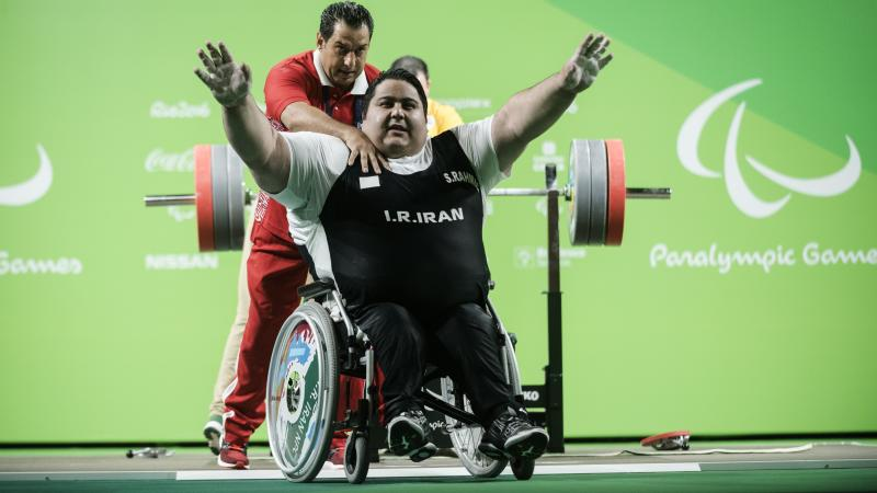 Siamand Rahman of Iran made history at the Rio 2016 Paralympic Games by becoming the first athlete to lift over 300 kg.