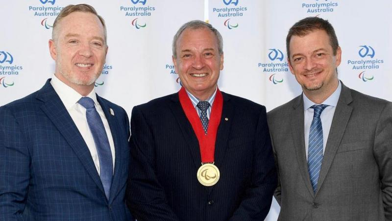 Greg Hartung received the Paralympic Order from IPC President Andrew Parsons
