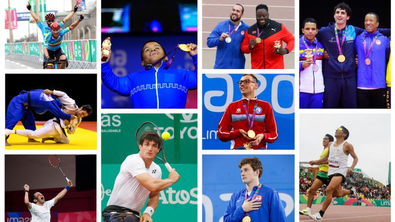 Ten photos of the ten nominees for Best Male Athlete at Lima 2019