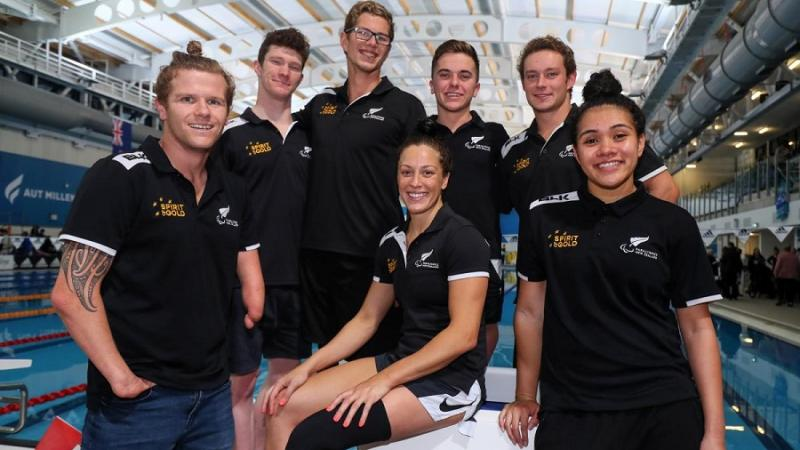 New Zealand swimming team