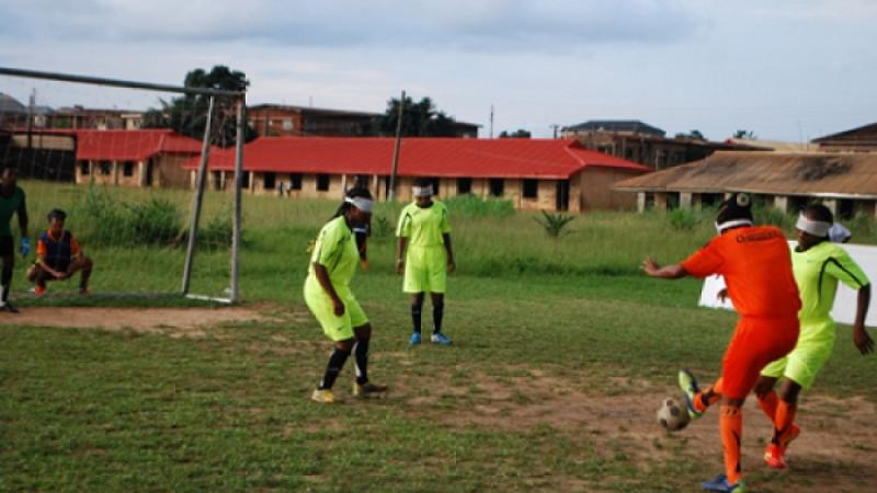 Nigeria blind football camp