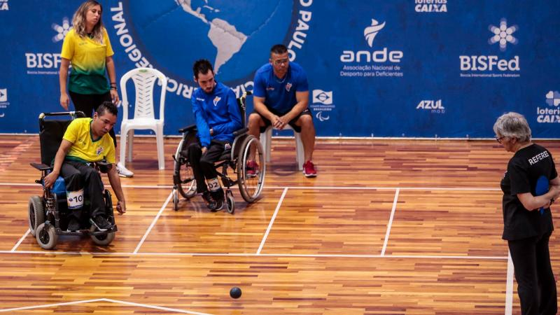 Action from the  2019 Boccia America Regional Championships in Sao Paulo, Brazil. Picture: Organisers