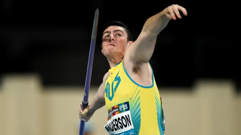 A man throwing a javelin