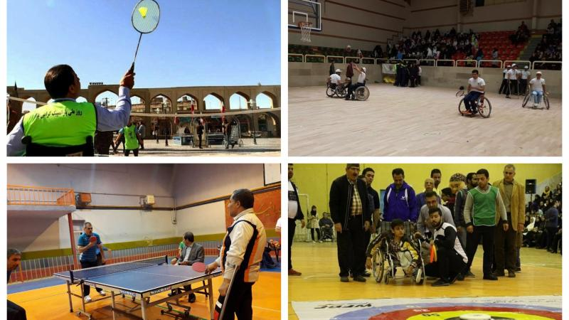 Iranian people trying out different Para sports
