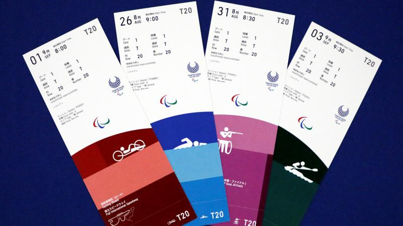 Paralympic ticket  designs