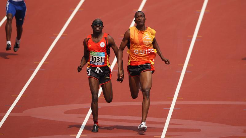 Angolan athletes running