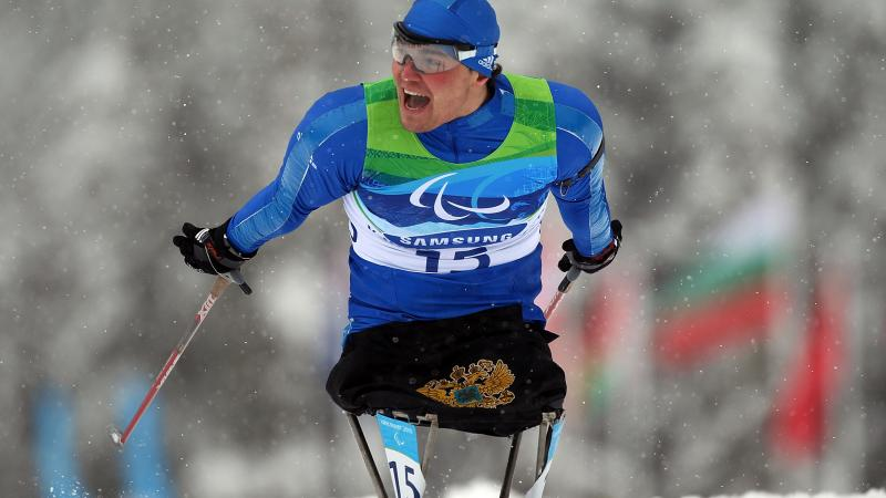 Irek Zaripov (RUS) competing at the Vancouver 2010 Paralympic Winter Games.
