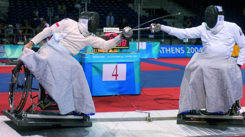Wheelchair Fencing, the 2004 Athens Paralympic Games