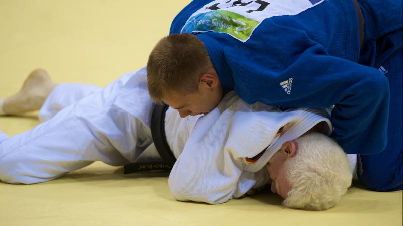 Latvian Judoka in action