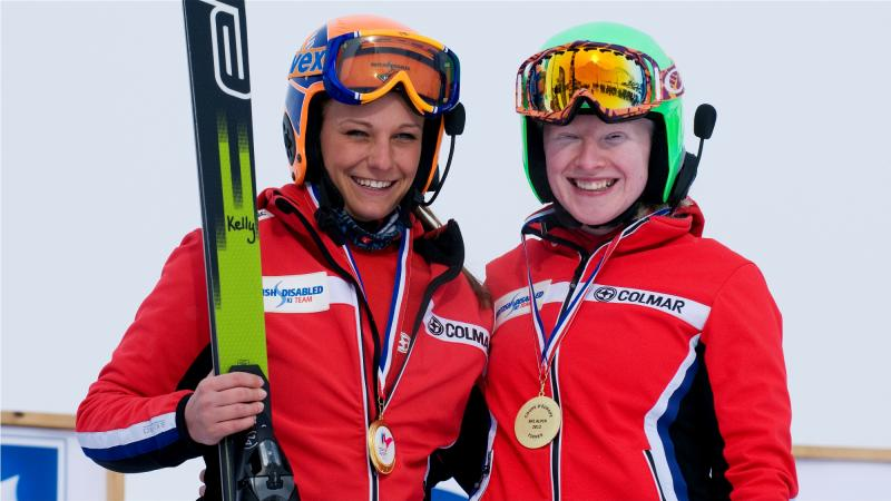 Great Britain's Kellly Gallagher and Guide Charlotte Evans