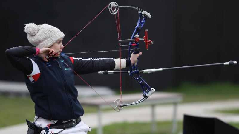 A picture of a woman archer