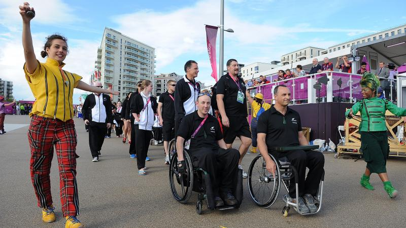 Michael Johnson and Duane Kale at the Olympic Park