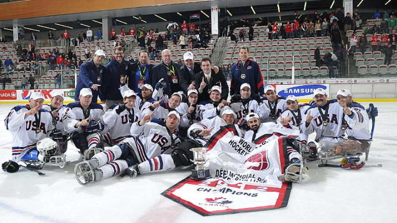USA ice sledge hockey team