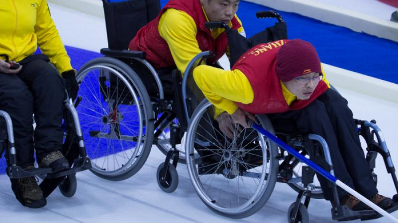 China wheelchair curling team