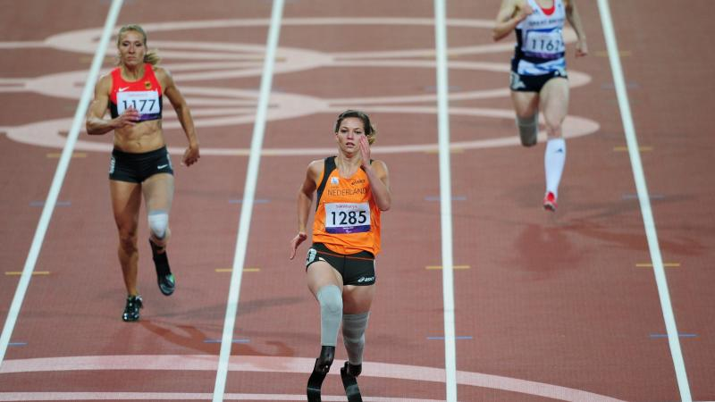 Marlou Van Rhijn of Netherlands at the London 2012 Paralympic Games