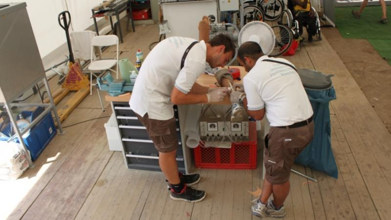 Ottobock provides technical service at Lyon 2013