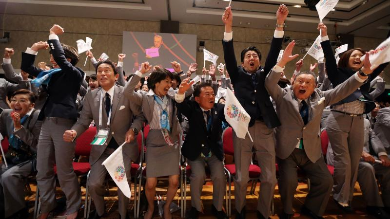 Tokyo 2020 react to the news that they have won the 2020 Olympic and Paralympic Games