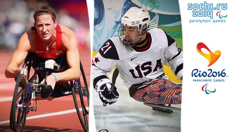 U.S athletes Tatyana McFadden and Alexi Salamone