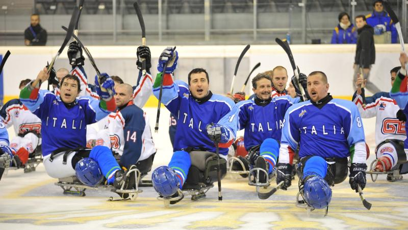 Italian ice sledge hockey team