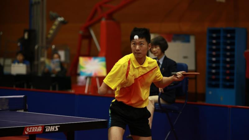 Chinese player Ge Yang takes a shot