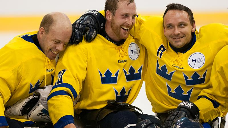 Sweden's ice sledge hockey team