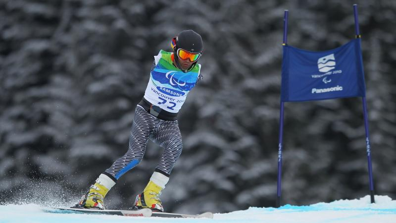 Mher Avanesyan of Armenia competes in the Men's Standing Giant Slalom during Day 6 of the 2010 Vancouver Winter Paralympics