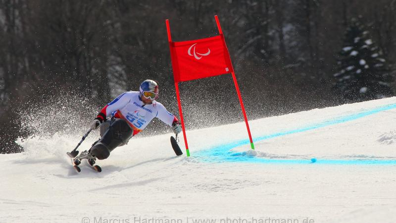 Yohann Taberlet, France just misses out on a medal in the men's giant slalom sitting category