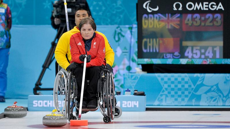 Aileen Neilson competes at the Sochi 2014 Paralympic Winter Games.