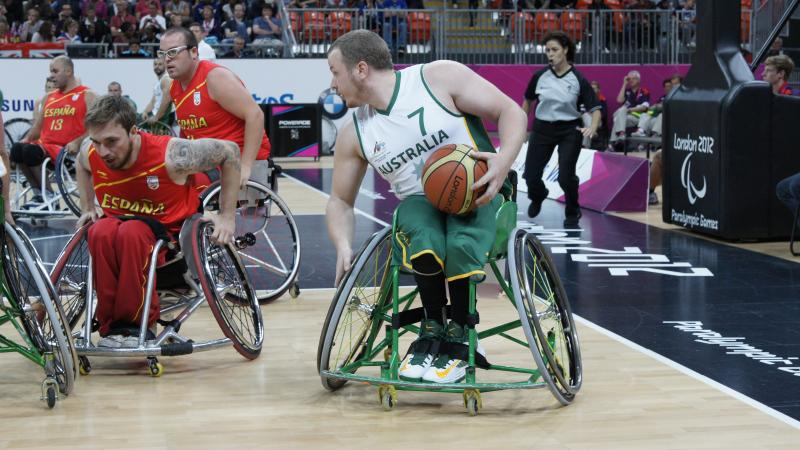 Shaun Norris competes at the London 2012 Paralympic Games.