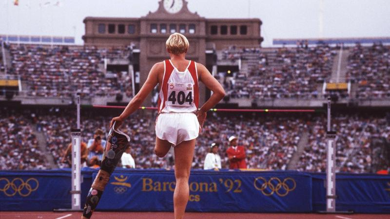 High jumper at the Barcelona 1992 Paralympics